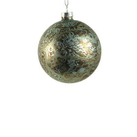 Χριστουγεννιάτικη μπάλα γυάλινη Πράσινη 8cm