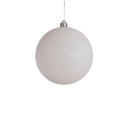 Χριστουγεννιάτικη μπάλα πλαστική Λευκή 8cm