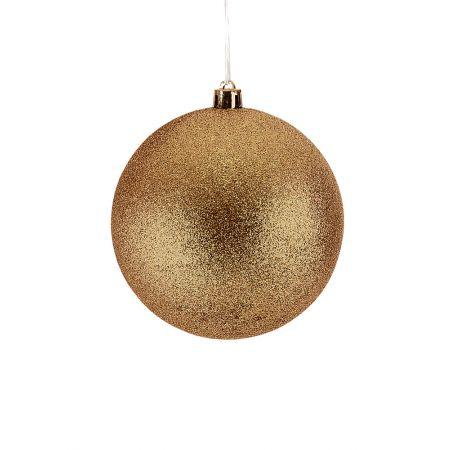 Χριστουγεννιάτικη μπάλα πλαστική Χρυσή 10cm