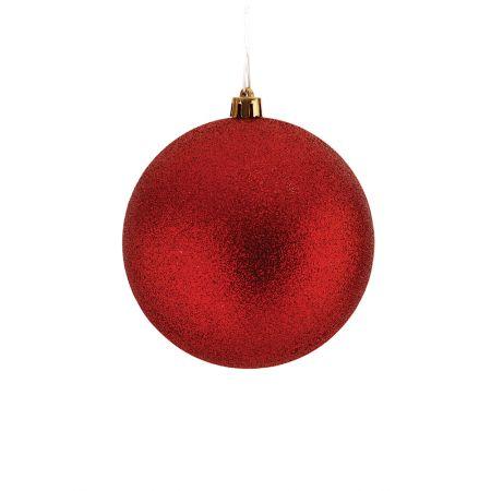 Χριστουγεννιάτικη μπάλα πλαστική Κόκκινη 10cm