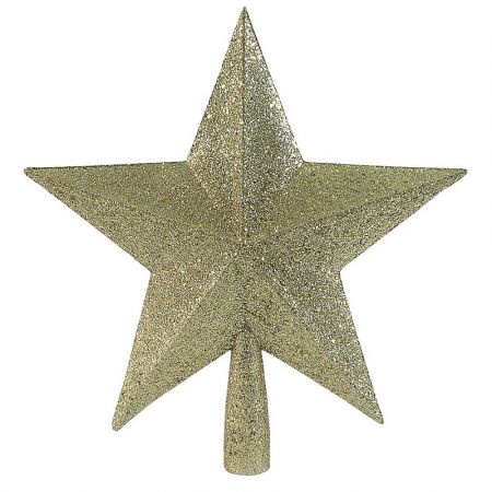 Κορυφή Χριστουγεννιάτικου δέντρου αστέρι Χρυσό 23cm