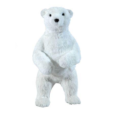 Διακοσμητικό πολικό αρκουδάκι όρθιο 23x20x42cm