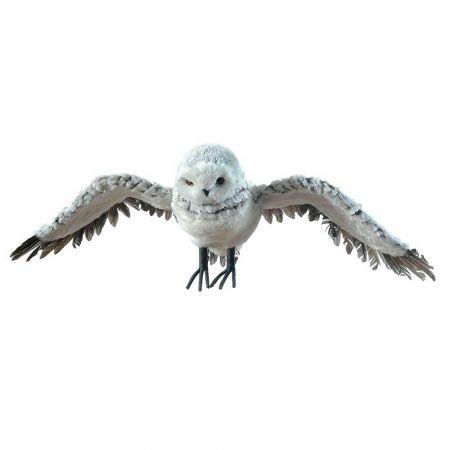 Διακοσμητική κουκουβάγια που πετάει Λευκή 72x27x17cm