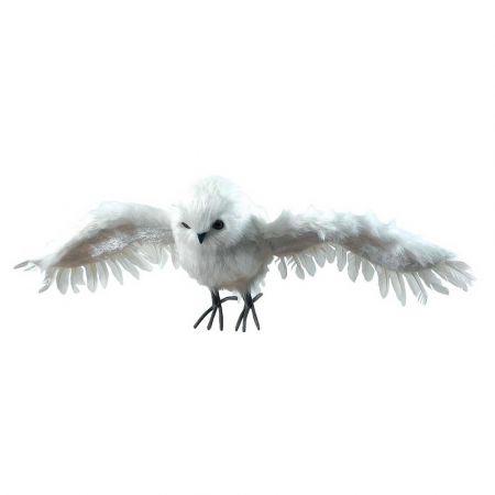 Διακοσμητική κουκουβάγια που πετάει Λευκή 70x27x16cm