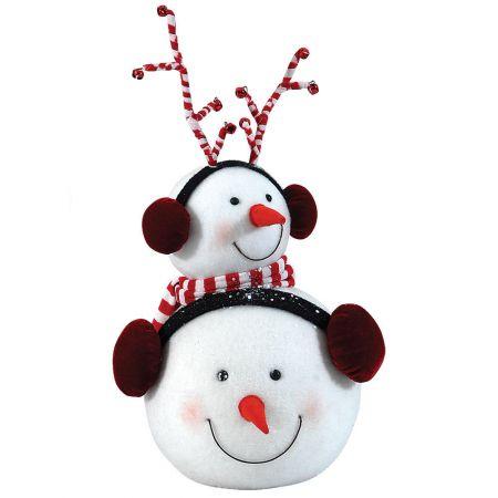 Διακοσμητικά κεφάλια χιονάνθρωπου 26x20x43cm