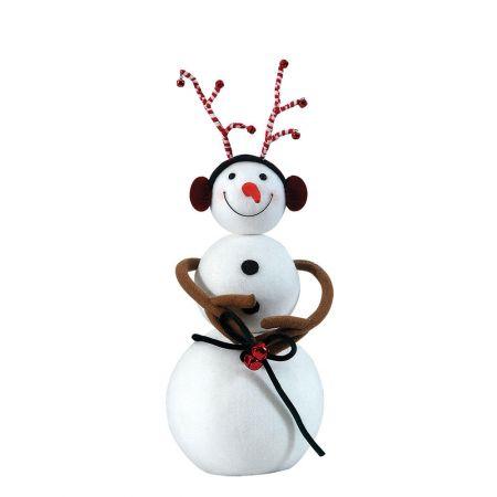 Διακοσμητικός χιονάνθρωπος 20x20x53cm