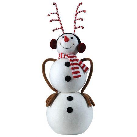 Διακοσμητικός χιονάνθρωπος 30x25x65cm