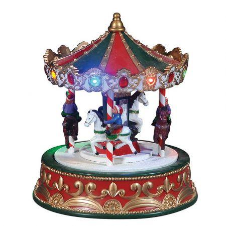 Optical παράσταση carousel με ήχο και κίνηση 19x19x23cm