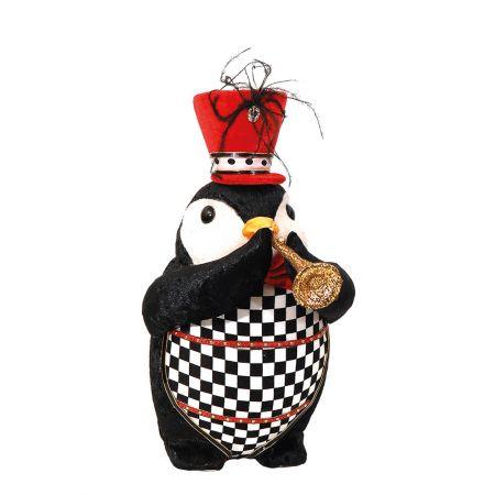 Διακοσμητικός πιγκουίνος με καραμούζα 24x16x31cm