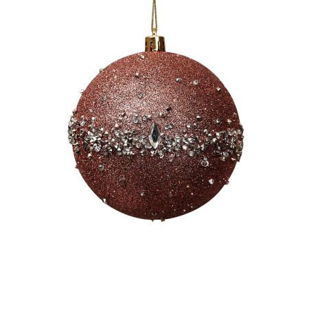 Χριστουγεννιάτικη μπάλα πλαστική Ροζ 10cm