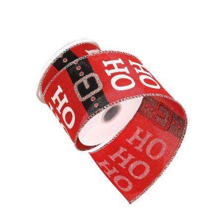 Χριστουγεννιάτικη κορδέλα HO HO HO 7cmx10m