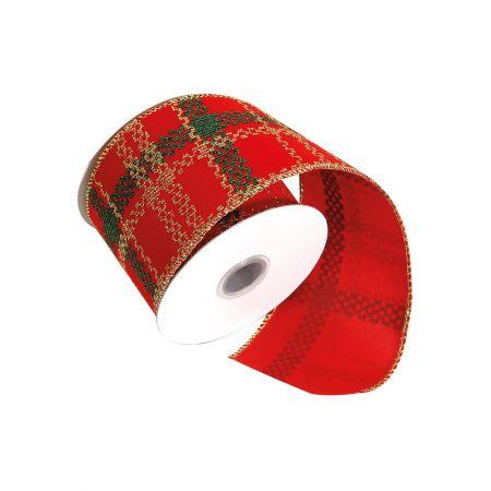 Χριστουγεννιάτικη κορδέλα Κόκκινη 7cmx10m