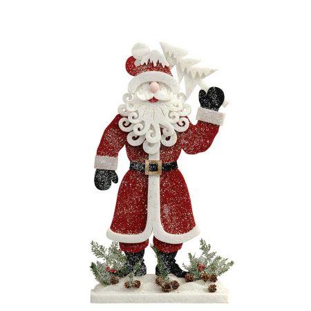 Διακοσμητικός Άγιος Βασίλης με δεντράκι, 38x8x70cm