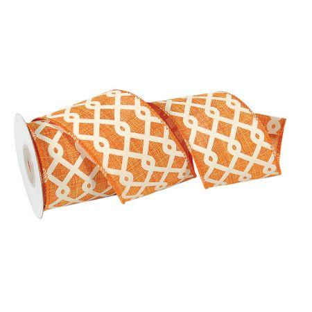 Διακοσμητική κορδέλα Πορτοκαλί 7cmx10m