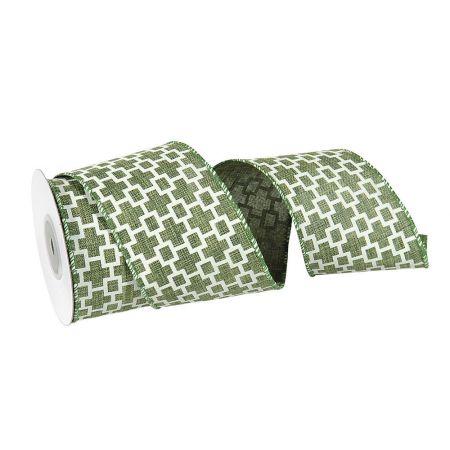 Διακοσμητική κορδέλα Πράσινη 7cmx10m