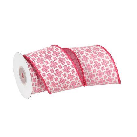 Διακοσμητική κορδέλα Ροζ 7cmx10m