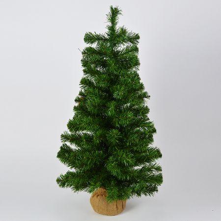 Χριστουγεννιάτικο δέντρο με βάση τσουβάλι 90cm