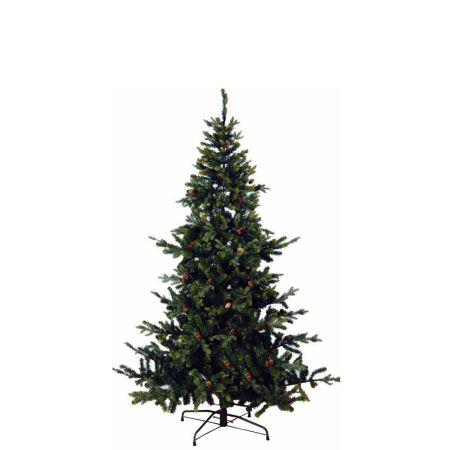 Χριστουγεννιάτικο δέντρο MRC - PVC PE με κουκουνάρια 210cm