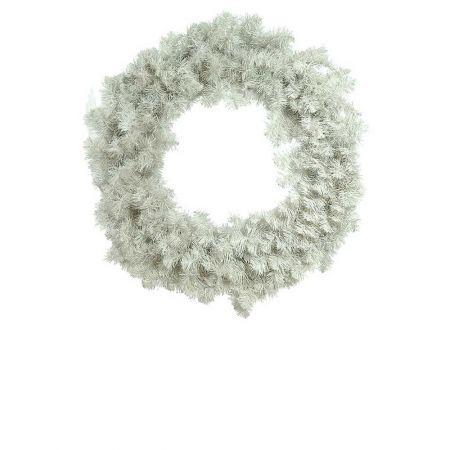 Χριστουγεννιάτικο στεφάνι PVC Λευκό 60cm