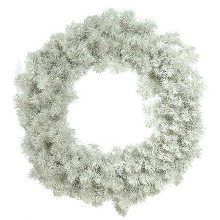 Χριστουγεννιάτικο στεφάνι PVC Λευκό 100cm