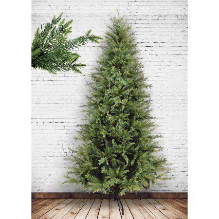 Χριστουγεννιάτικο δέντρο μισό - Makalu PVC PE plastic 180cm