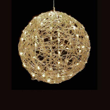 Χριστουγεννιάτικη φωτιζόμενη μπάλα 80LED 25cm