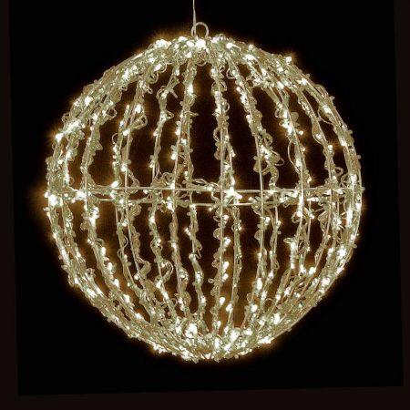 Χριστουγεννιάτικη φωτιζόμενη μπάλα 400LED 35cm Θερμό Λευκό LED