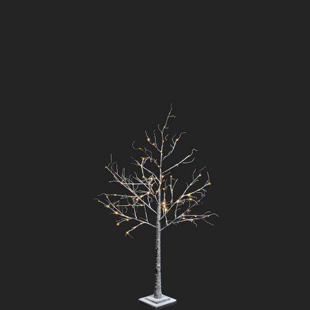 Φωτιζόμενο δέντρο Χριστουγέννων χιονισμένο με 100 LED 120cm