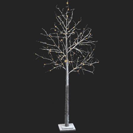 Φωτιζόμενο δέντρο Χριστουγέννων χιονισμένο 136LED 210cm