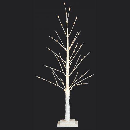 Φωτιζόμενο δέντρο Λευκό με 91LED 90cm
