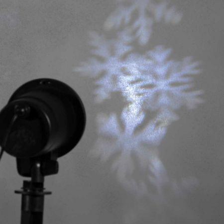 Προτζέκτορας IP44 με εφέ χιονιφάδες Λευκό