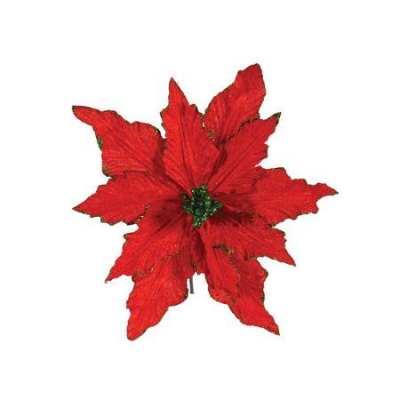 Διακοσμητικό Αλεξανδρινό λουλούδι Κόκκινο 25cm