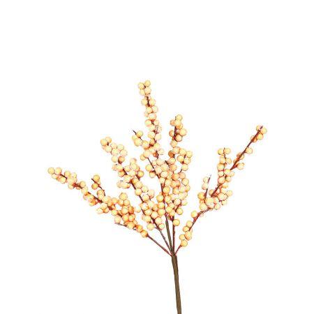 Χριστουγεννιάτικο κλαδί Berries - Γκι Χρυσό χιονισμένο 42x20cm