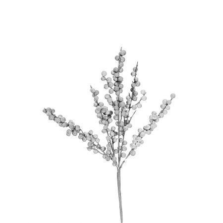 Χριστουγεννιάτικο κλαδί Berries - Γκι Ασημί 42x20cm