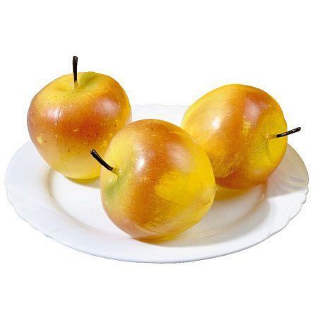 Σετ 3 τμχ Διακοσμητικά μήλα Κίτρινα 7cm