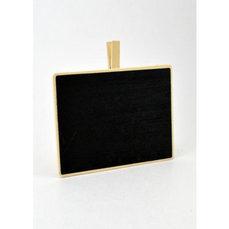 Διακοσμητικό ταμπελάκι - μαυροπίνακας με μανταλάκι 15x12cm