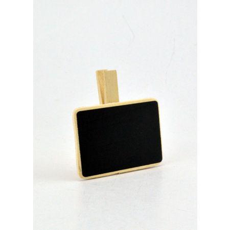 Διακοσμητικός μαυροπίνακας με μανταλάκι 7x7cm