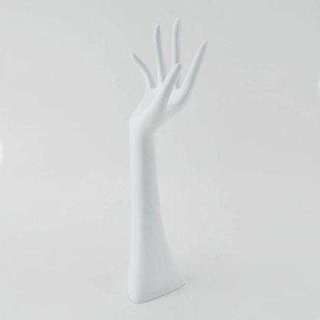 Διακοσμητικό Χέρι Γυναικείο Λευκό 33cm