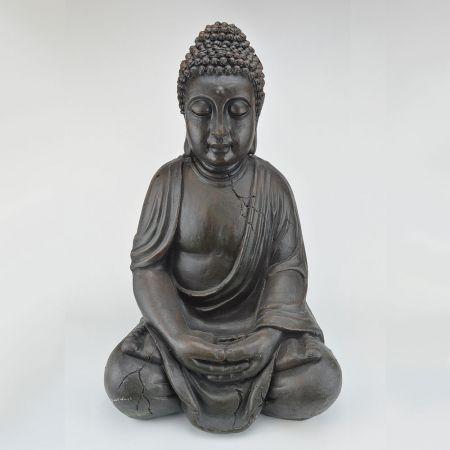 Διακοσμητικό αγαλματίδιο Βούδα polyresin Καφέ 50cm