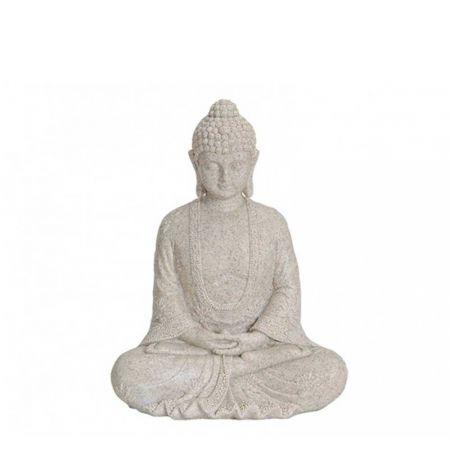 Διακοσμητικό αγαλματίδιο Βούδας polyresin Μπεζ 19cm