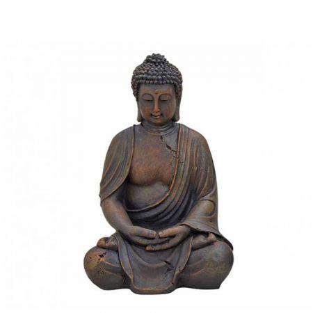 Διακοσμητικό αγαλματίδιο Βούδας polyresin Καφέ 38cm