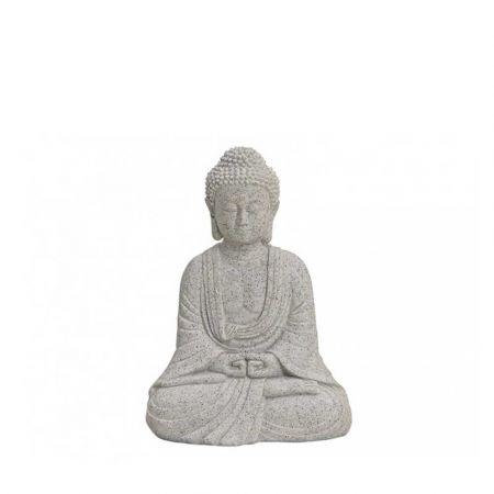 Διακοσμητικό αγαλματίδιο Βούδας polyresin Γκρι 13cm