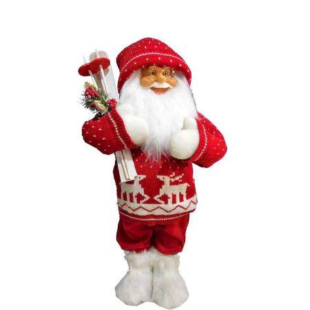 Χριστουγεννιάτικος λούτρινος  Άγιος Βασίλης, κόκκινος 65cm
