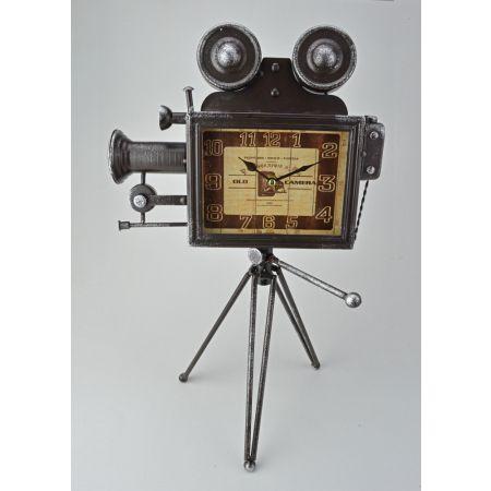 Vintage επιτραπέζιο ρολόι - κάμερα σε τρίποδο 31x21x48cm