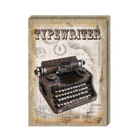 Διακοσμητικός Καμβάς Typewriter 41x56cm