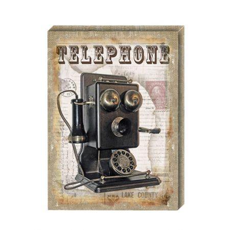 Διακοσμητικός Καμβάς Telephone 41x56cm