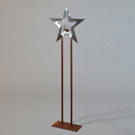 Διακοσμητικό Χριστουγεννιάτικο αστέρι με βάση Χάλκινο - Ασημί 130cm