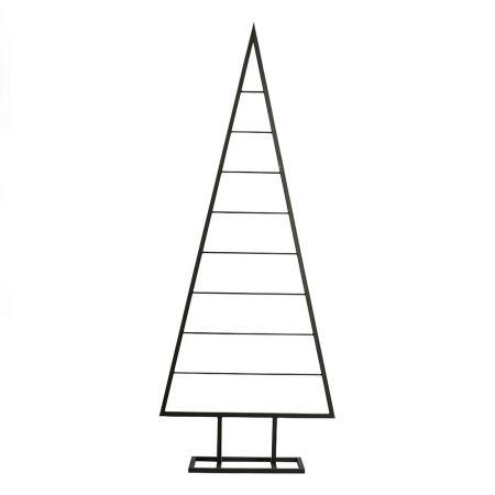 Μεταλλικό Χριστουγεννιάτικο δέντρο - σταντ Μαύρο 196,5cm