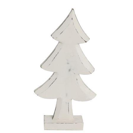 Διακοσμητικό επιτραπέζιο δεντράκι ξύλινο Λευκό 38,5cm