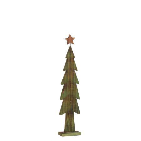 Διακοσμητικό Χριστουγεννιάτικο δέντρο Πράσινο με Κίτρινο αστέρι 70cm